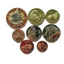 8pcs גרינלנד איי (דנמרק) הארקטי חיות 2010 שנה מטבעות מקורי מתנת הווה לא הופץ