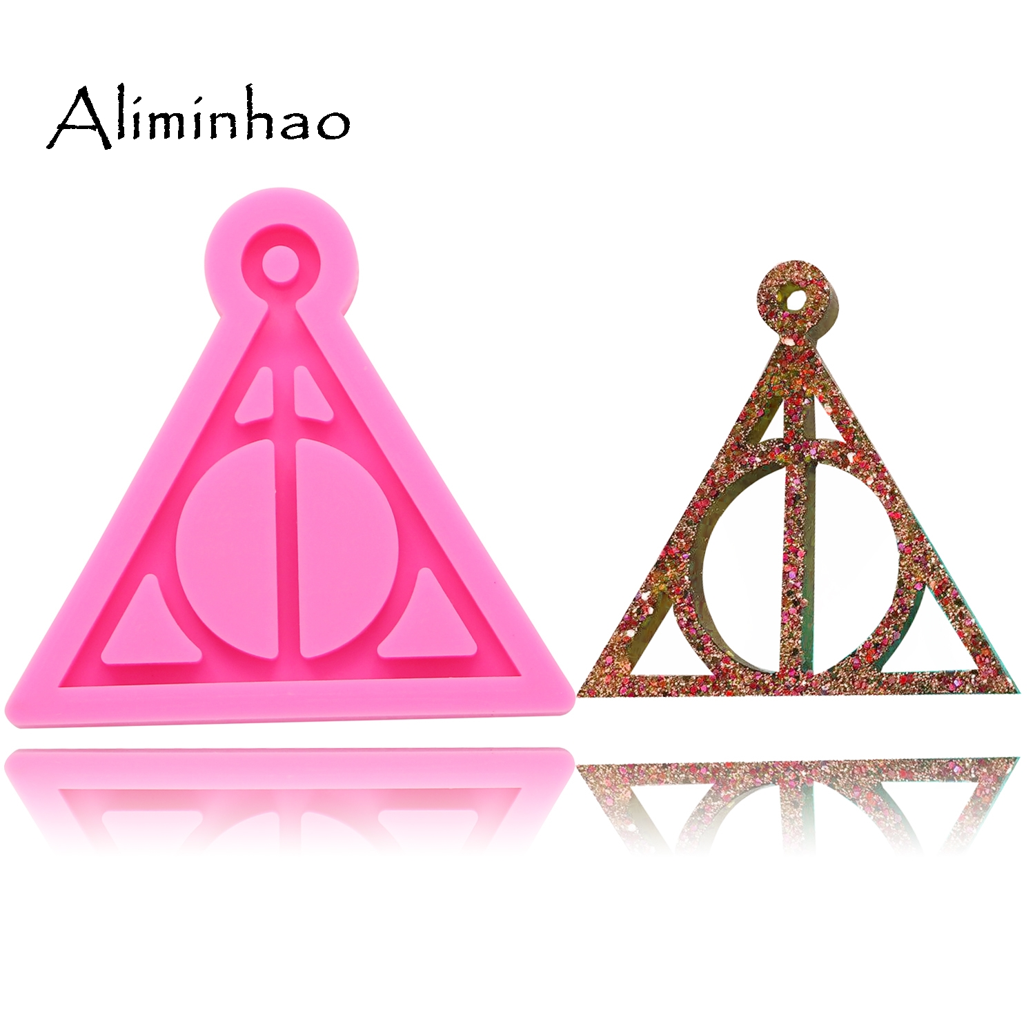 DY0085 Shiny Harry Potter Logo Keychains Mold Pendant Polymer Clay DIY Jewelry Making Glitter Epoxy Silicone Resin Mold