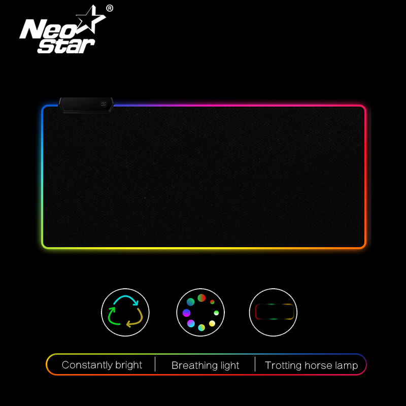 RGB LED Mouse Pad Large Mouse Pad USB Wired Lighting Gaming Gamer Mousepad Keyboard Non-slip Colorful Luminous For PC Mice Mat