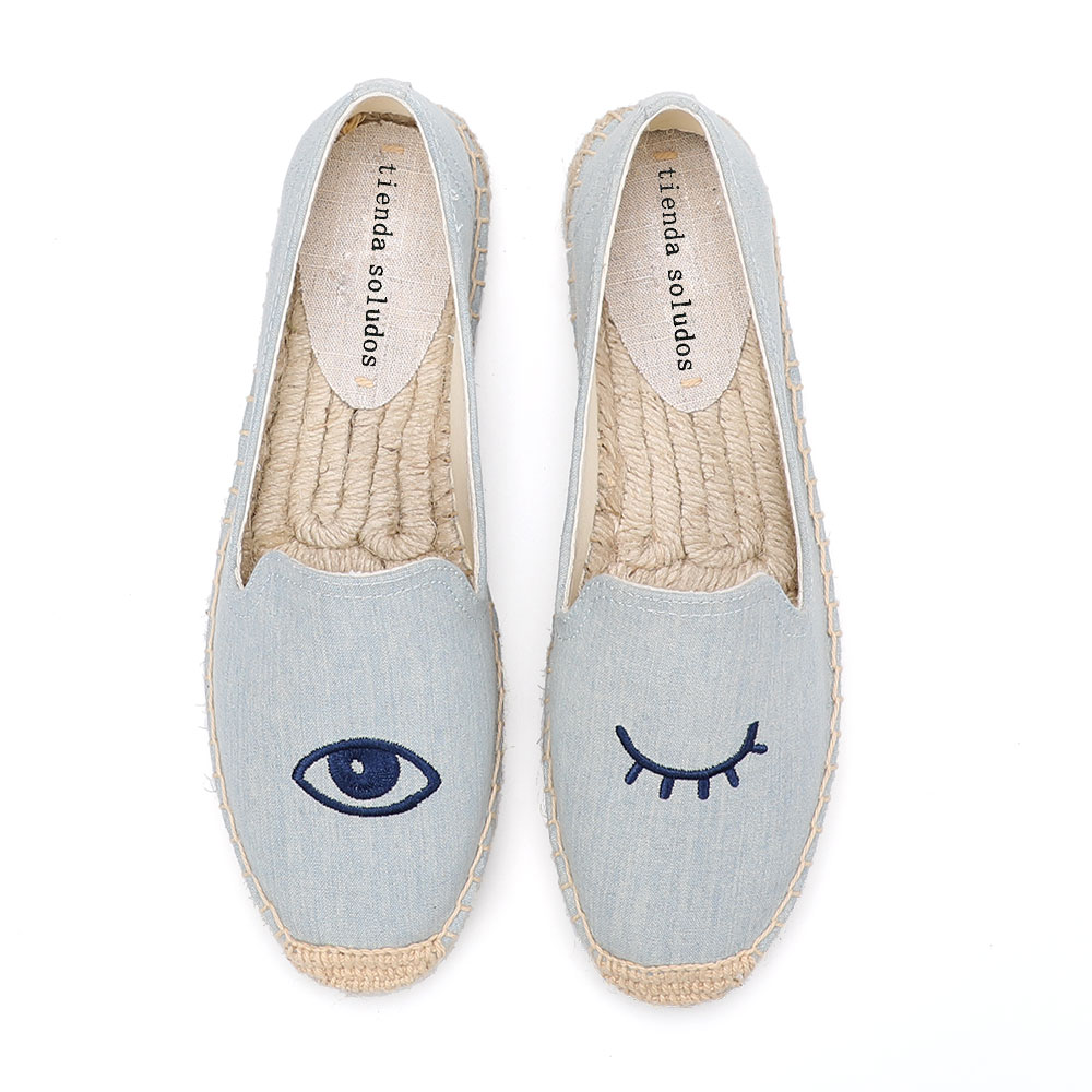 2020 Special Offer Time-limited Flat Platform Cotton Fabric Rubber Zapatillas Mujer Sapatos Womens Espadrilles Flat Shoes