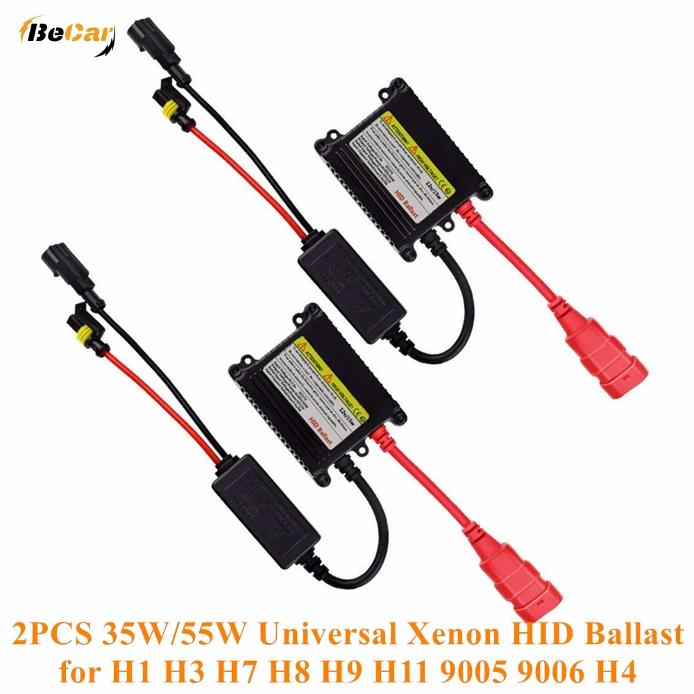 1/2/4 PCS 35W/55W Super Slim Xenon Ballast DC 12V HID Ballast for H1 H3 H7 H8 H9 H11 9005 9006 H4 Ca