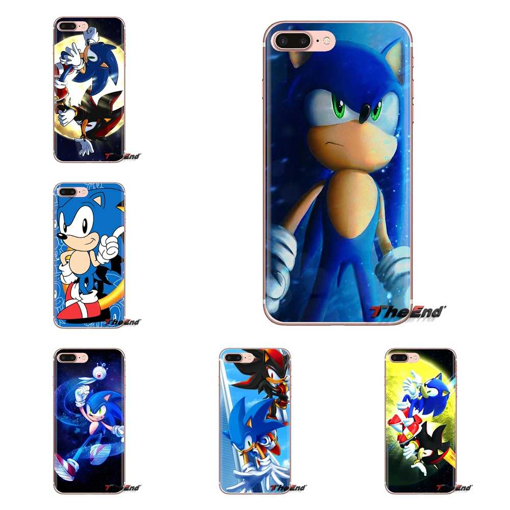 Para iPod Touch Apple iPhone 4 4S 5 5S SE 5C 6 6S 7 7 8 X XR XS Plus MAX de Sonic Hedgehog sombra Sega TPU transparente bolsa caso