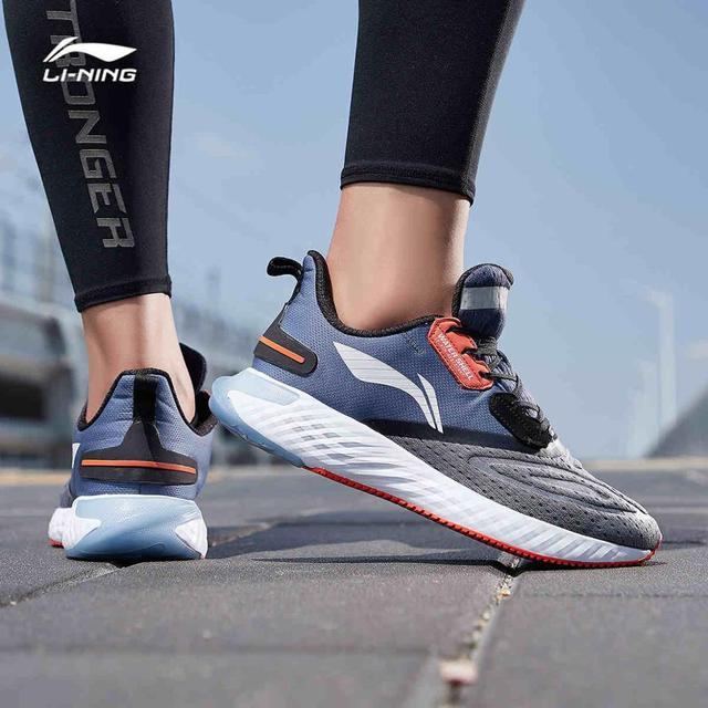 Li Ning Men LN CLOUD V SHIELD Cushion Running Shoes WATERSHELL LiNing Waterproof Sport Shoes Sneakers ARHP143 SOND19
