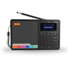 GTMEDIA D1 DAB+ FM (RDS) digital radio stereo Multi Band Radio 1.8 LCD Display Alarm Clock 18650 Lithium Rechargeable Battey