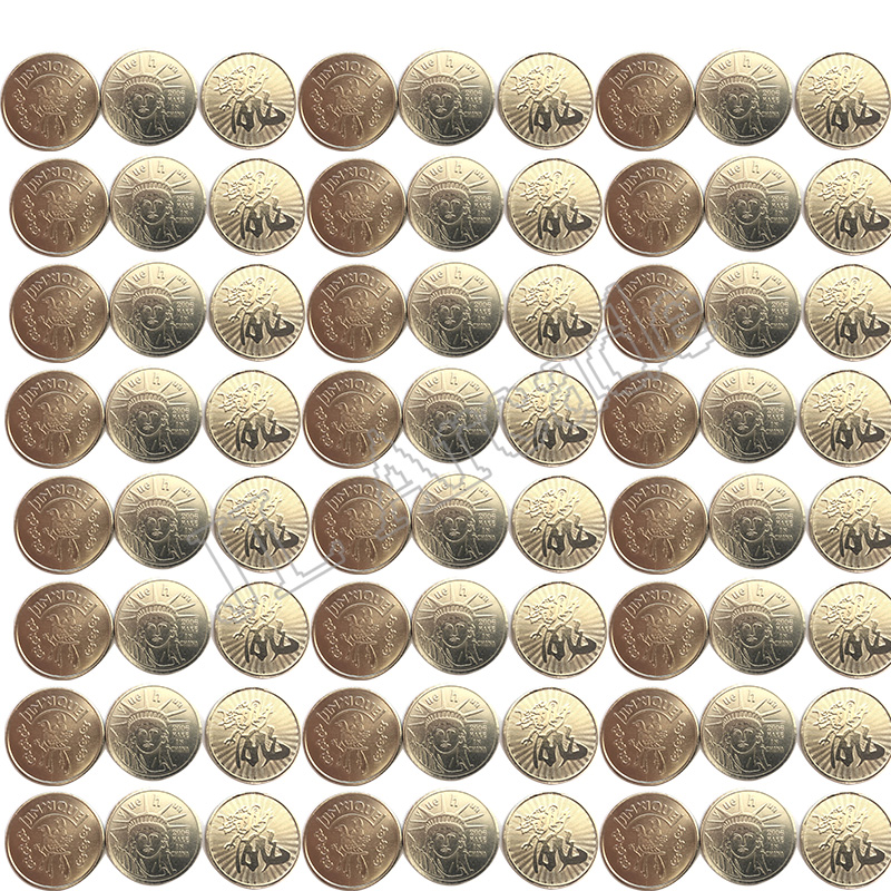 100pcs Per Bag Arcade Style Gaming Coin Tokens 25*1.85mm Stainless Steel Tokens For Arcade MAME Amusement Machine Cabinet