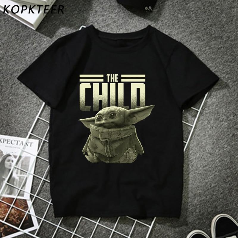 2020 Newest Fashion Man Tshirt Lovely Baby Yoda Mandalorian  Fashion Black T-shirt Merchandise Print T-shirt Hip Pop Tops