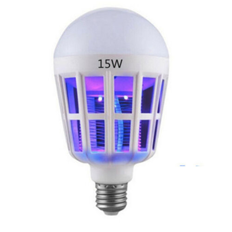 AC175~220V E27 LED Bulbs With Mosquito Killer Lamp Insect Trap Electric Odorless Fly Bug Insect Zapper 15W Lamps Home Lighting