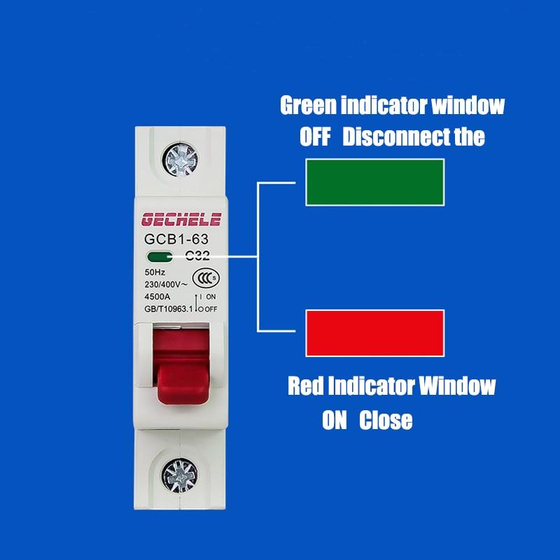 H878f9591d4ef411ba10e8697abf2cdad2 - TPN 1P mini circuit breaker MCB 10A,16A,20A,25A,32A mini DZ47 air switch C45 low voltage switch