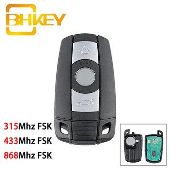 BHKEY for BMW Key 868/433/315Mhz FSK Smart Car 1/3/5/7 Series CAS3 X5 X6 Z4 Remote 3 Buttons