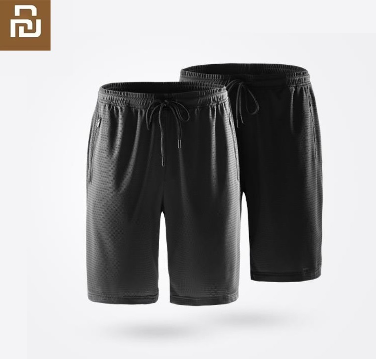 Youpin ULEEMARK Men's Cool Sports Shorts Skin-friendly Breathable Comfort Silky Casual Short Pants Fitness Running Sweatpants