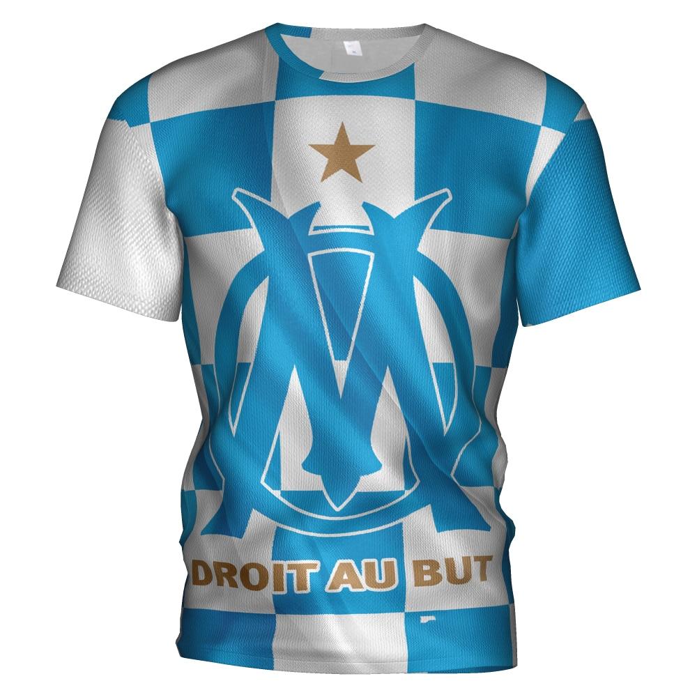 Olympique De Marseille 2018 2019 Soccer Jersey Football 3d T Shirt Sweatshirt Olympique Marseille Tracksuit Kit Football T-shirt