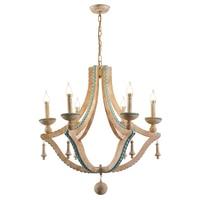 Solid wood chandeliers nordic turquoise lighting loft decor living room foyer chandeliers lobby bohemian european light fixtures