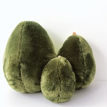 20-40cm Cute beautiful avocado fruit plush plant toy cartoon doll boy girl anti-stress pad pillow gift