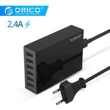 ORICO настольное зарядное устройство адаптер USB 6 портов 5V2. 4A быстрое зарядное устройство EU разъем для Xiaomi samsung huawei