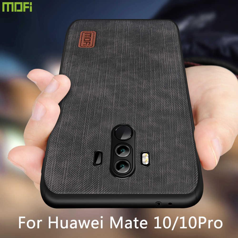 MOFi Per Mate10 Pro Caso Della copertura di Huawei Mate 10 Alloggiamento Della Copertura Del Silicone antiurto DELL'UNITÀ di ELABORAZIONE dei jeans in pelle di TPU