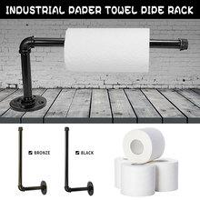 33cm soporte de pared de papel higiénico hierro baño cocina rollo de papel accesorio tejido toallero soportes Vintage soporte hogar