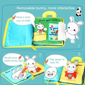 Image 2 - Beiens 3D Soft Cloth Baby Books Animals&Vehicle Montessori Baby Toys For Toddlers Intelligence Development Educational Toy Gifts