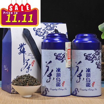 300g super frozen top oolong tea with strong fragrance Taiwan traditional handmade Alpine tea gift box canned