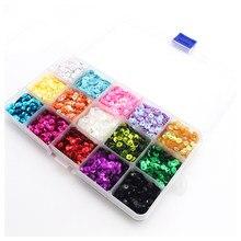 Juego de lentilhas ultrafinas de cores para uñas, brillantina brillante, lentejuelas redondas, polvo mixto, decoração artís
