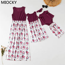 Autumn Mother Daughter Dresses Family Look Patchwork Print Mum Girl Dress Baby Girl Clothing Set 2019 Mommy and me clothes E0260