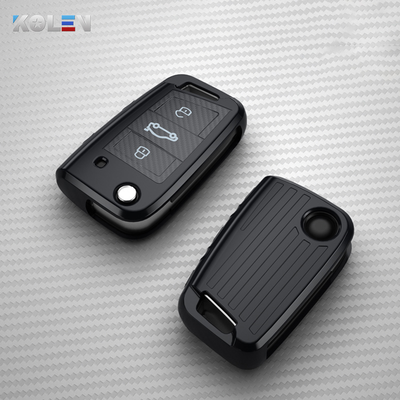 Soft TPU Car Key Case Cover Holder Shell For Volkswagen VW Golf 7 MK7 Tiguan For Skoda Octavia Seat Ibiza Leon FR 2 Aztec Altea