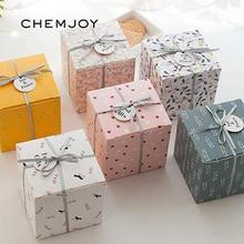 Набор из 10 подарочные коробки для вечеринок с лентой и ярлыком подарочные коробки мир и радость Праздничная коробка Рождественский подарок Подарочная коробка товары для вечеринок