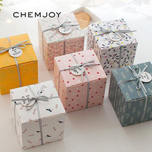 Set of 10 Party Gift Boxes with Ribbon and Tag Favor Boxes Peace and Joy Holiday Box Christmas Present Gifts Box Party Supplies