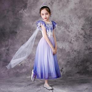 Детский костюм «эпилога» «Эльза»; Роскошное нарядное платье принцессы для девочек; Наряд для костюмированной вечеринки; Детские вечерние костюмы на Хэллоуин, карнавал, день рождения