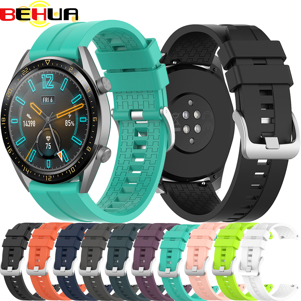 22mm Wrist Straps Band For Huawei Watch GT 42mm 46mm Smartwatch Strap For Huawei Watch GT 2 GT2 46mm Bands Sport Belt Bracelet