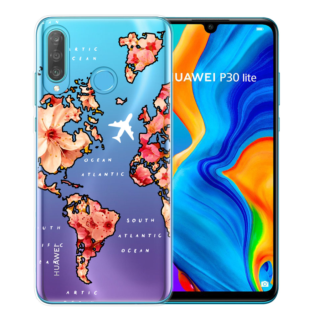 World Map Travel Plans Soft Silicone Phone Case For Coque Huawei Mate P10 P20 P30 P40 Lite Pro Cover For Huawei P30 Lite Shell