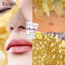 RtopR Hot Gold Remove Blackhead Mask Face Pore Peeling Acne Treatment Nose Deep Cleansing Whitening Hydrating  Golden Mud