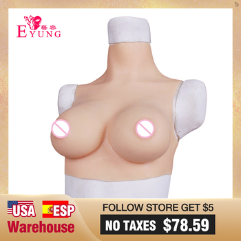 Eyung Silicone Breast Fake Boobs Crossdresser Silicone Breast Forms Meme Tits For Sissy Drag Queen Transgender Transsexual CDE