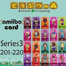 Пересечение животных подлинных данных новые горизонты игры Марио карты для NS переключатель 3DS игра набор NFC-карты выводятся в ряд series3 201-220 матовый материал