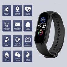 M5 inteligentna opaska IP67 wodoodporna inteligentny zegarek sportowy mężczyzna kobieta tętna Monitor ciśnienia krwi bransoletka Fitness dla Android IOS