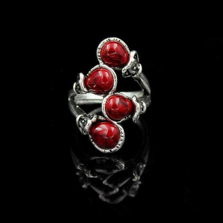 แฟชั่นหินธรรมชาติสาขาแหวนสำหรับสตรีชายหาดปาร์ตี้แฟชั่นแฟนวันเกิดของขวัญแหวนผู้หญิงเครื่องประดับ
