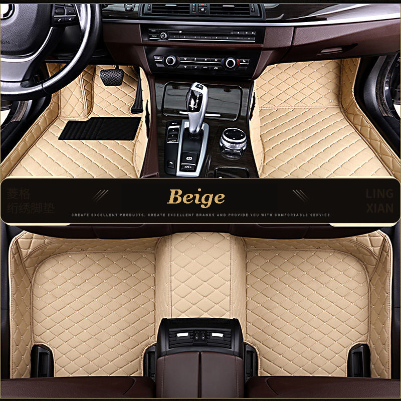 Esteiras do assoalho do carro personalizado para citroen c4 c5 c2 c6 dreno c-quatre/triomphe elysee picasso acessórios do carro estilo do pé esteiras
