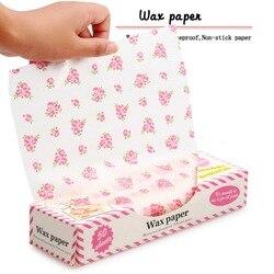 50 stks/partij Wax Papier Food Grade Vet Papier Voedsel Wrappers Inpakpapier Voor Brood Sandwich Hamburger Frietjes Oliepapier Bakken Tools