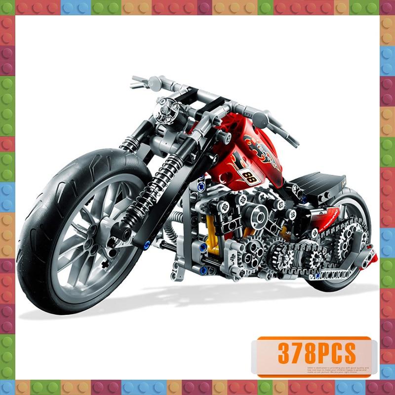 378PCS City Moto Racing Motorbike Model Building Blocks Technic Creator Motorcycle Vehicles Bricks Toys for Boys Gifts
