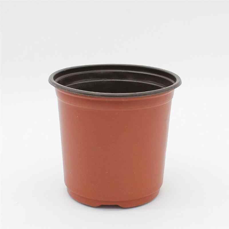 10PCS พลาสติกเนอสเซอรี่หม้อพืชดอกไม้ต้นกล้ากระถางน้ำหนักเบา 2-TONE ดอกไม้คอนเทนเนอร์เมล็ด Growing Garden Planters