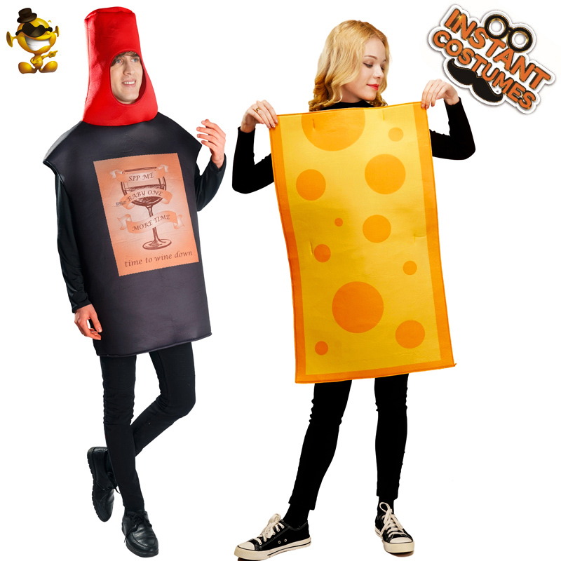 Foodie fnt Adult size Wine and//or Cheese Couples Costumes