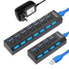 USB 3,0 концентратор usb-хаб 3,0 Мульти USB разветвитель 3 место обитания Применение Мощность адаптер 4/7 Порты и разъёмы несколько расширитель 2,0 USB3 ...