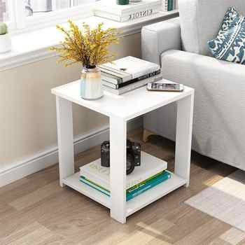 Simple Small Coffee Table Modern Side Table Living Room Square Desk Bedroom Nightstand (50x50x52) - DISCOUNT ITEM  40 OFF All Category