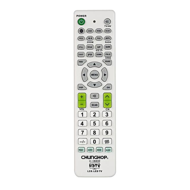 รีโมทคอนโทรลสำหรับLg LCD LED HDTV 3DTVชุดโทรทัศน์สำหรับSamsungสำหรับSkywortสำหรับSony CHUNGHOP H 1880E