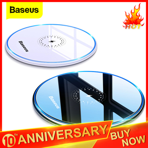 Baseus Qi Wireless Charger For Airpods Pro iPhone 11 X Max 15W Fast Wireless Charging Pad For Samsung S20+ Huawei Mate30 Xiaomi