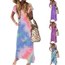 Женское острое летнее платье макси повседневное Свободное длинное