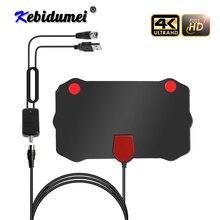 Kebidumei 1080P Indoor Digital TV Antenna HD HDTV Antena DVB T/T2 DVB T/T2 DVBT2 Cable TV Antena UHF VHF DTV Antennas Aerial