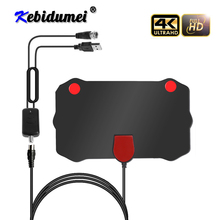 Kebidumei 1080P wewnętrzna cyfrowa Antena telewizyjna HD HDTV Antena DVB T/T2 DVB T/T2 DVBT2 telewizja kablowa Antena UHF VHF DTV anteny Antena