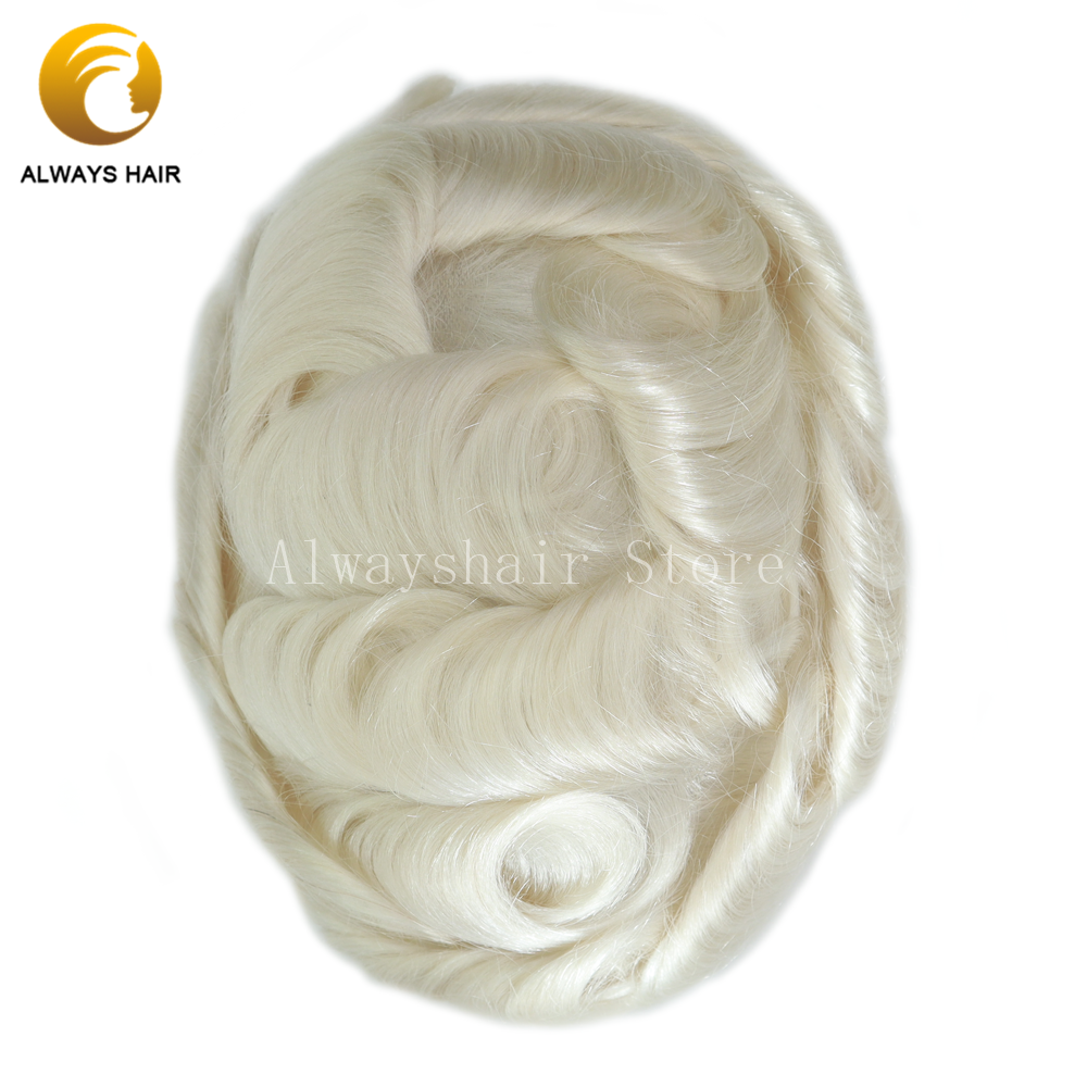 6 Inch Toupee Super Thin Skin 100% Hair Density Indian Human Hair Wigs Man Free Style Ultra Thin Skin Male Hair Prosthesise