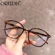 2020 Latest Flat Glasses Frame Ladies Well-Known Designer Glasses Fashion Oval Transparent Frame Glasses Can Wear Myopia Glasses