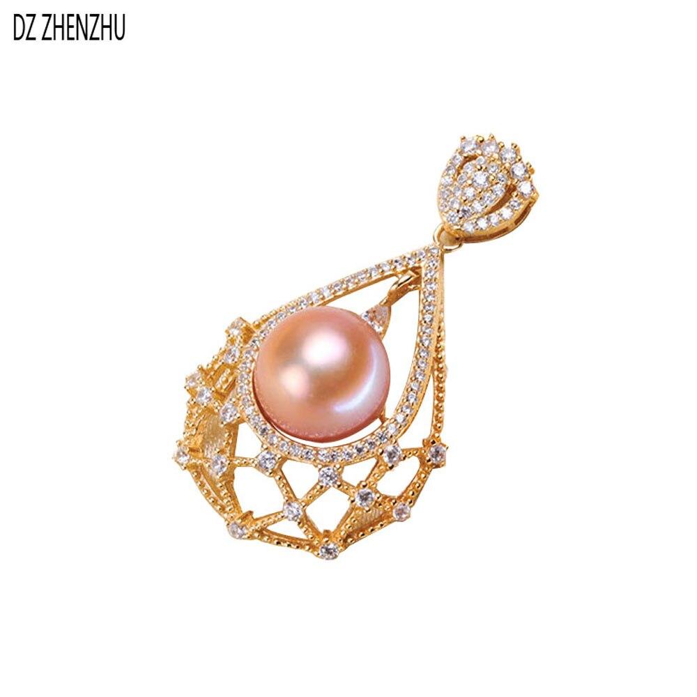 DZ ZHENZHU composants de bijoux en perles, pendentif de collier de perles, bijoux en argent sterling 925, colliers de mode pour femmes 2019 nouveau